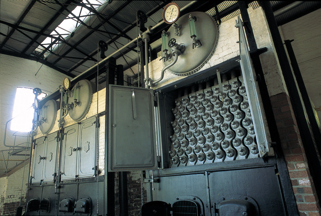 Colour photo of interior at No 1 Pump Station