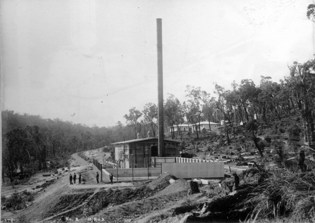 Completed No 2 Pump Station c. 1902.