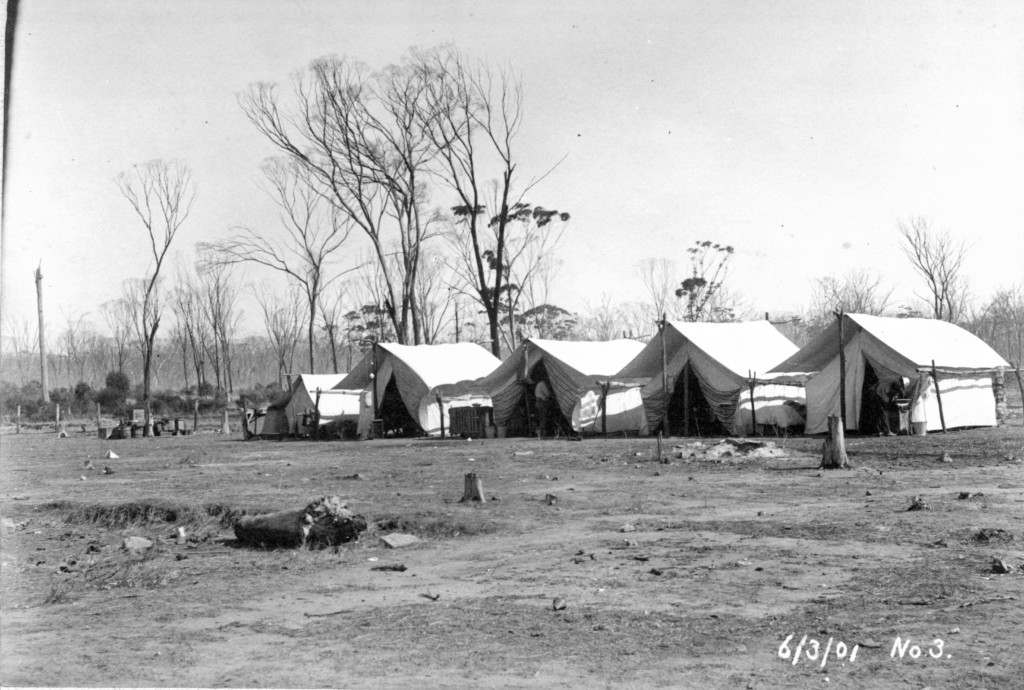 No 3 Pump Station construction camp in Cundedin, c. 1901.