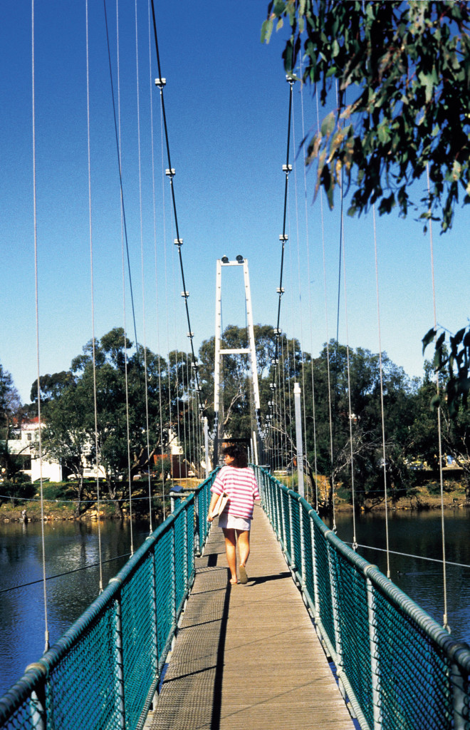 Northam suspension bridge over the Avon River.