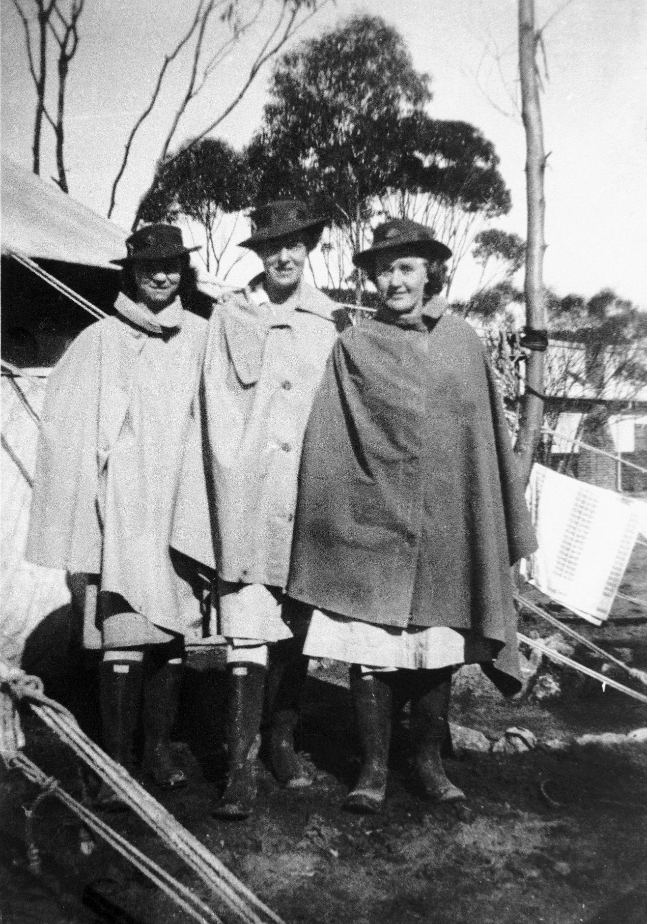 Women nurses in gumboots 1943.